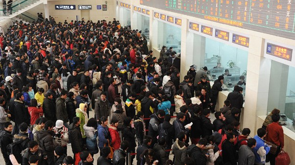 Chinese New Year Crowds from CNN