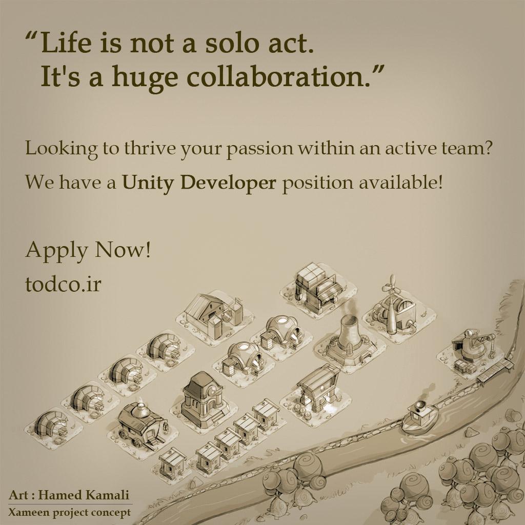 استخدام توسعه دهنده یونیتی در تاد - unity