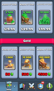 Clash Royal Shop