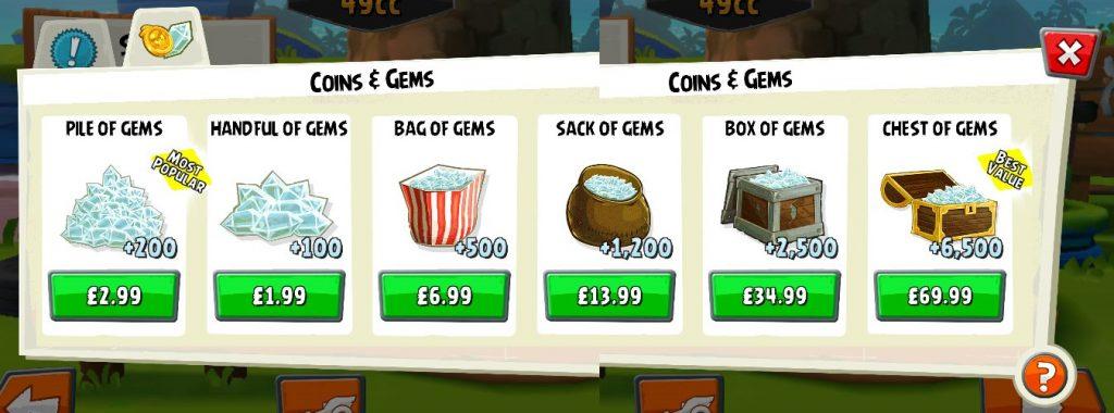 Angry Birds Go Shop